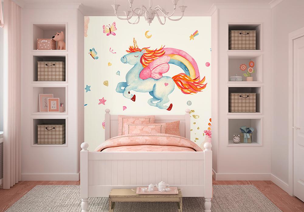 36493352 - colorful playroom interior. 3d render.